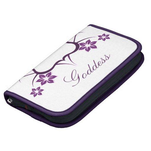 Floral Goddess Folio Planner, Purple