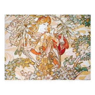 Floral Goddess Postcard