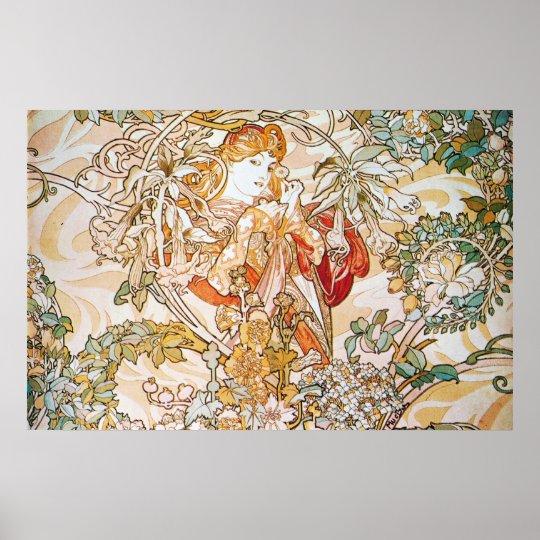 Floral Goddess Poster