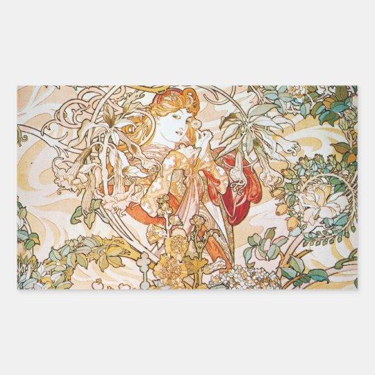 Floral Goddess Rectangular Sticker