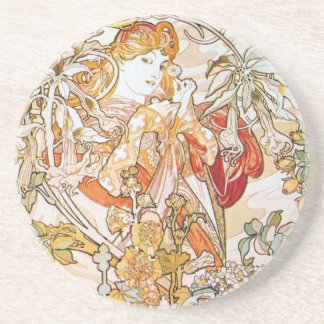 Floral Goddess Sandstone Coaster