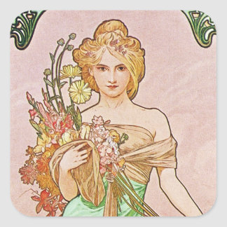Floral Goddess Square Sticker