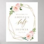 "Floral Gold Baby Shower Welcome Sign<br><div class=""desc"">Floral Gold Baby Shower Welcome Sign</div>"
