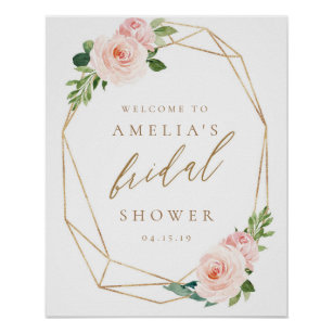 Bridal Shower Posters Design For Your