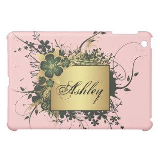 Floral Golden Frame iPad Case