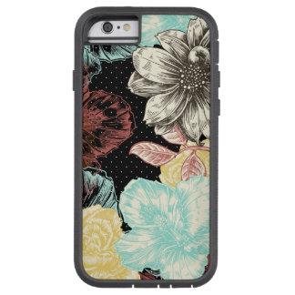 Floral grabada intrépido funda de iPhone 6 tough xtreme