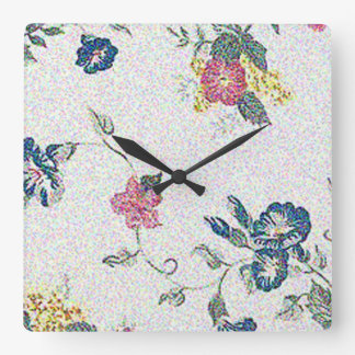 FLORAL GRACE SQUARE WALL CLOCK