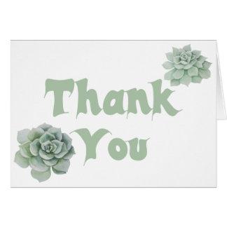 Floral gracias acuarela del Succulent de la verde Tarjeta Pequeña