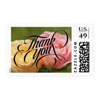 Floral gracias las notas timbres postales