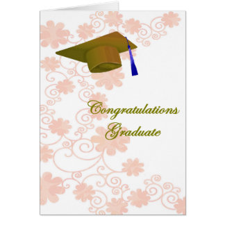 Floral Graduation Greeting Card