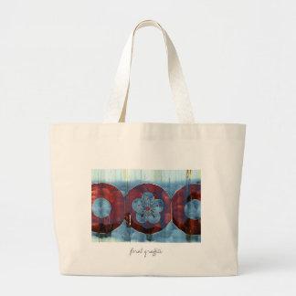 Floral Graffiti Jumbo Tote Bag