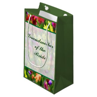 Floral Grandmother of the Bride Small Gift Bag