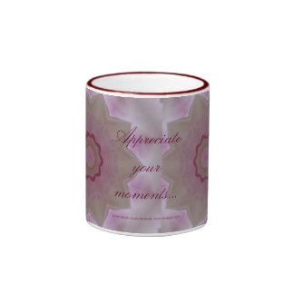 Floral gratitude mug