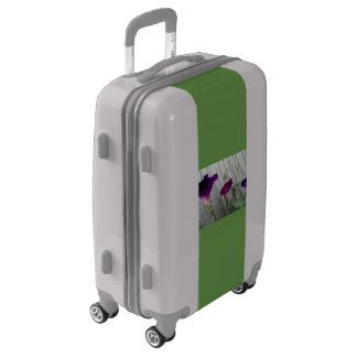 Floral Gray Carry-On Luggage