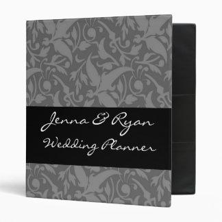 Floral Gray Wedding Planner or Recipe Bridal Binder