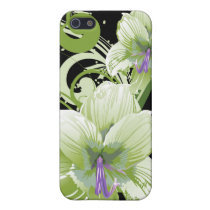 floral green 4 casing iPhone SE/5/5s cover