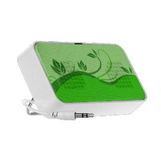 Floral Green Travel Speaker