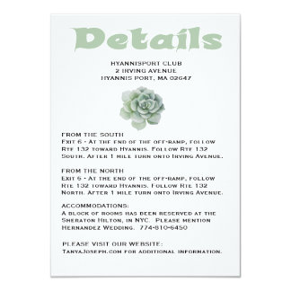 Floral GreenDirections / Details Succulent Cactus Card