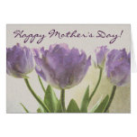 Floral greeting card for Mother's Day | tulips