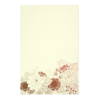 Floral Greeting Stationery