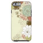 Floral Greeting Tough Iphone 6 Case at Zazzle
