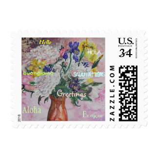 Floral Greetings Postage