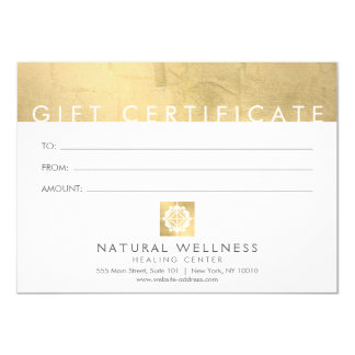 Floral Grid Wellness Logo Faux Gold Gift Card