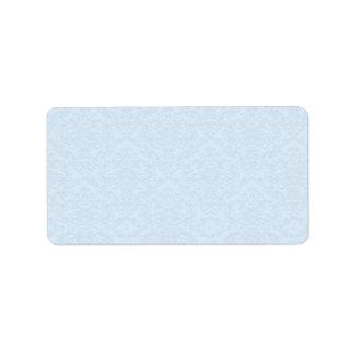 Floral gris en fondo azul claro etiqueta de dirección