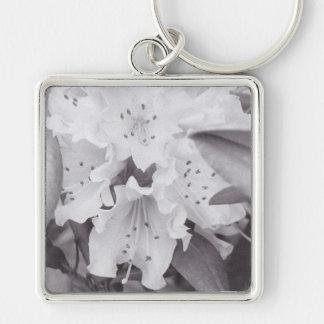 Floral gris en un llavero