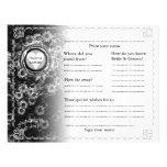 Floral gris horizontal del libro de visitas del bo tarjetas publicitarias