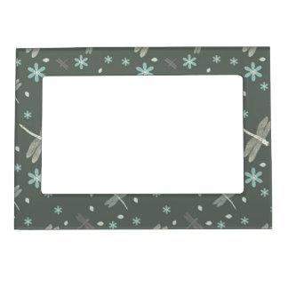 Floral gris y en colores pastel elegante marcos magnéticos para fotos