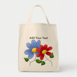 Floral Grocery Tote Grocery Tote Bag
