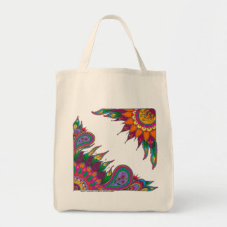 Floral grocery tote canvas bags