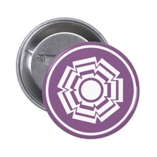 Floral Groove Button, Eggplant