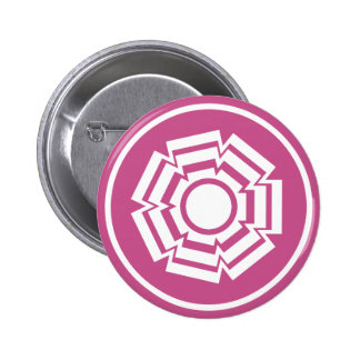 Floral Groove Button, Magenta