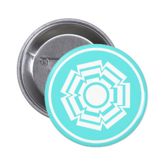 Floral Groove Button, Turquoise