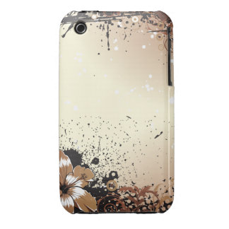 Floral Grunge iPhone 3 Case-Mate Cases