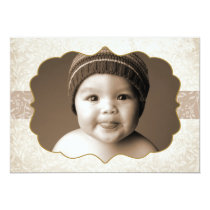 Floral Grunge Double Sided 2 Photo Holiday Card