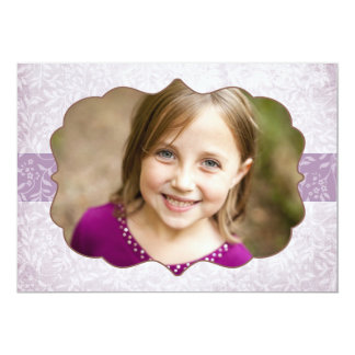 Floral Grunge Double Sided Mauve 2 Photo Holiday Card