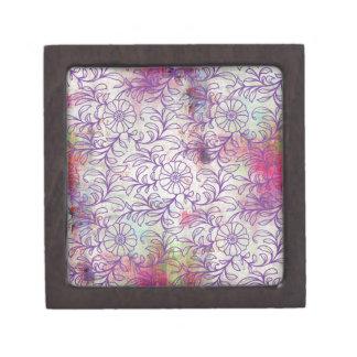 Floral Grunge Jewelry Box