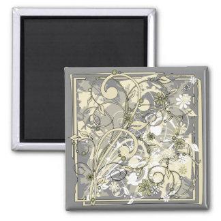 floral grunge magnet