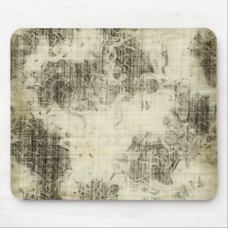 floral grunge mouse pad