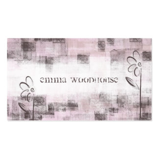 Floral Grunge Purple & Lilac Double-Sided Standard Business Cards (Pack Of 100)