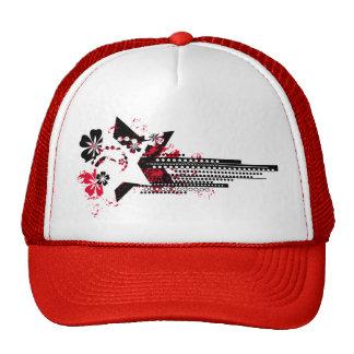 floral grunge stars trucker hat