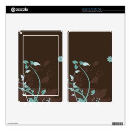 Floral Grunge Vector Pattern Kindle Fire Skins