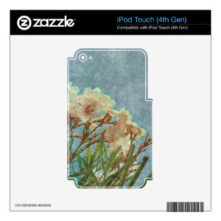 Floral Grunge Vintage Photo Skins For iPod Touch 4G