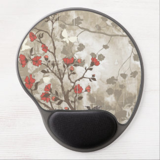 Floral Grunge with Bird Gel Mouse Pad