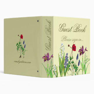 Floral- guest book 3 ring binder