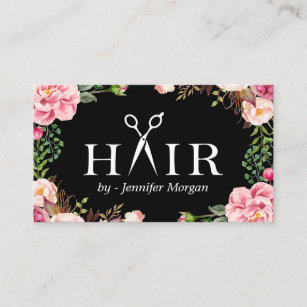 Hair and beauty business cards templates zazzle floral hair stylist logo beauty salon appointment colourmoves Image collections