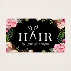 Floral Hair Stylist Logo Beauty Salon Appointment Business Card at Zazzle
